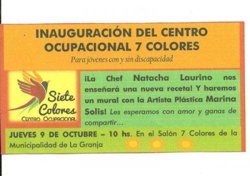 Inaguración Centro Ocupacional Siete Colores